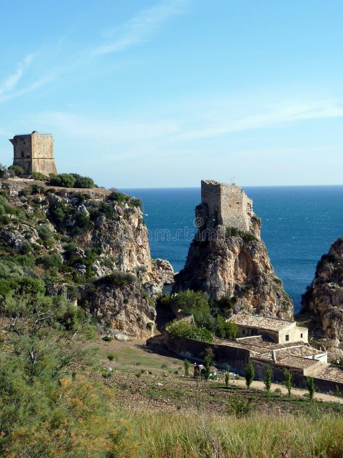 scopello seascape Sicily tonnara zdjęcie royalty free