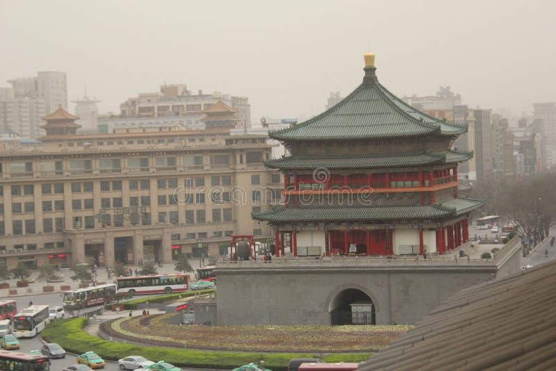 Scoperta della Cina: Campanile di Xian fotografie stock libere da diritti