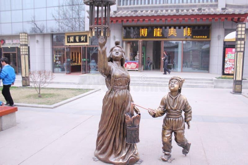Scoperta della Cina: Grande via della pagoda dell'oca selvatica fotografie stock