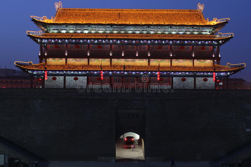 Scoperta della Cina: Muro di cinta antico di Xian immagine stock libera da diritti