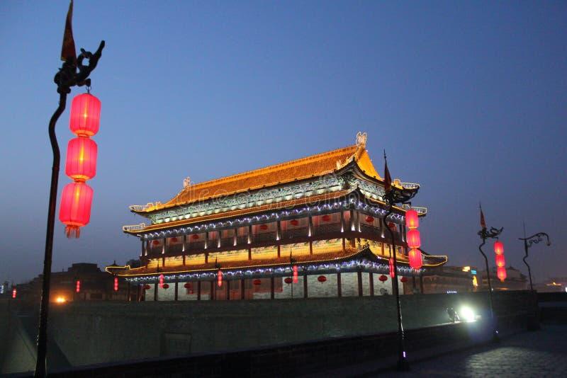 Scoperta della Cina: Muro di cinta antico di Xian fotografia stock