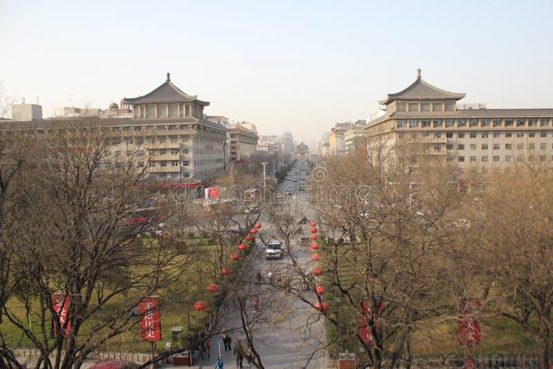 Scoperta della Cina: Via principale di Xian fotografia stock