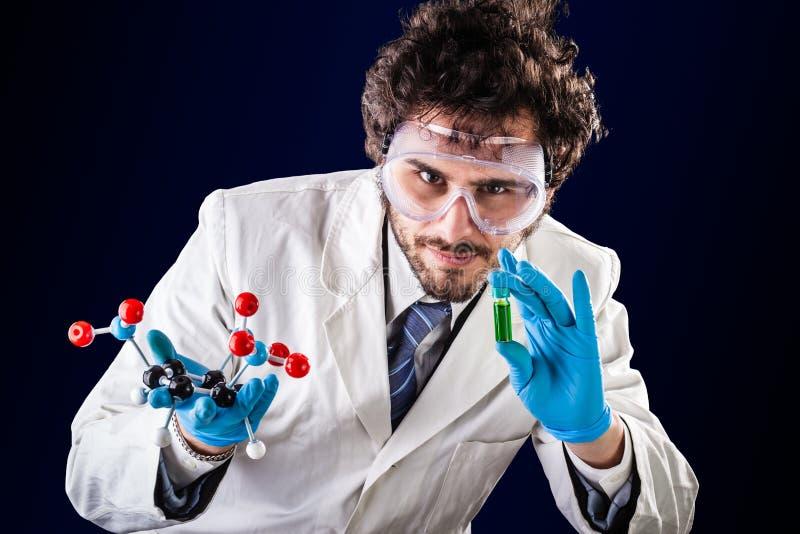 Scoperta delle molecole nuove fotografia stock