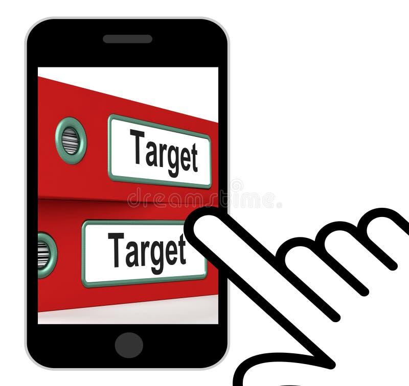 Scopi ed obiettivi di affari delle esposizioni delle cartelle di destinazione illustrazione di stock