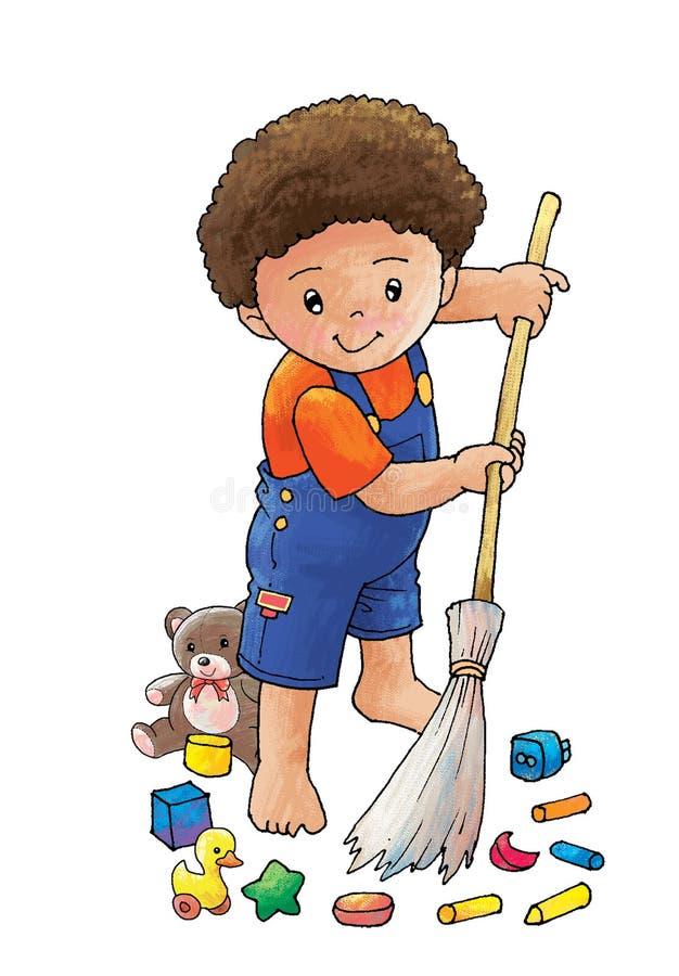 Download Scopi il pavimento illustrazione di stock. Illustrazione di pastello - 7301257