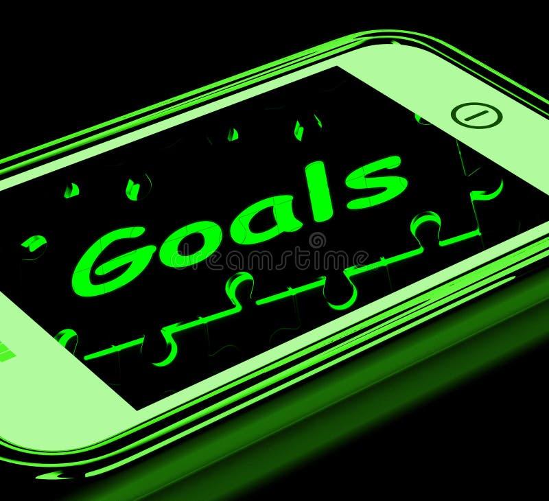 Scopi sugli obiettivi e sugli obiettivi di manifestazioni di Smartphone illustrazione vettoriale