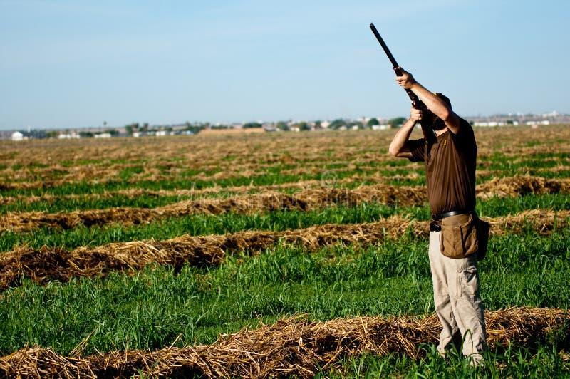 Scopo delle prese del cacciatore della colomba immagine stock