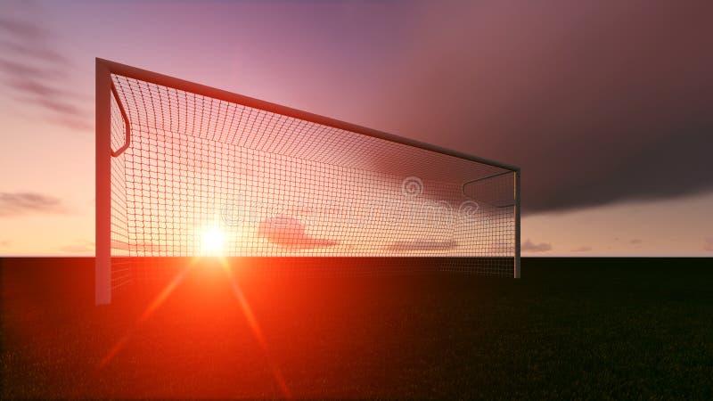 Scopo di calcio sul campo di football americano illustrazione vettoriale