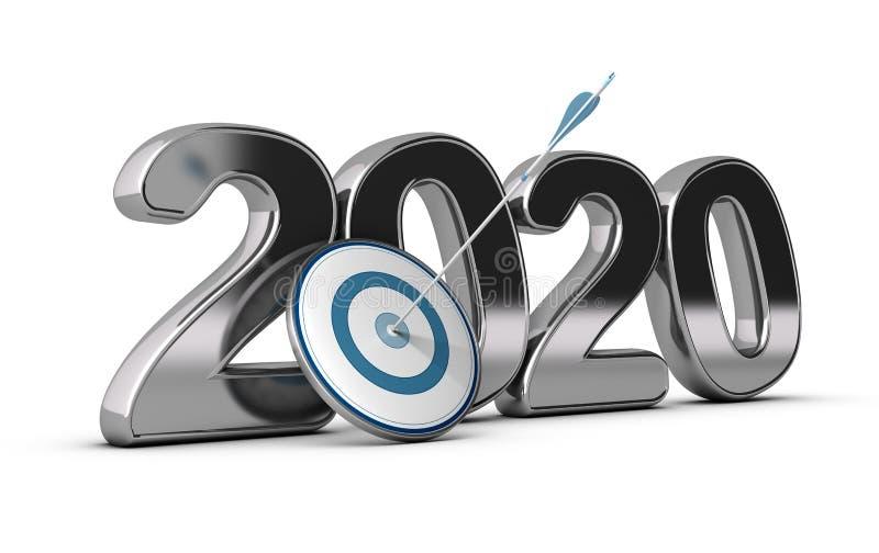 2020 scopo lungo o metà di di termine royalty illustrazione gratis