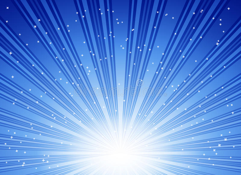 Scoppio blu astratto delle stelle royalty illustrazione gratis