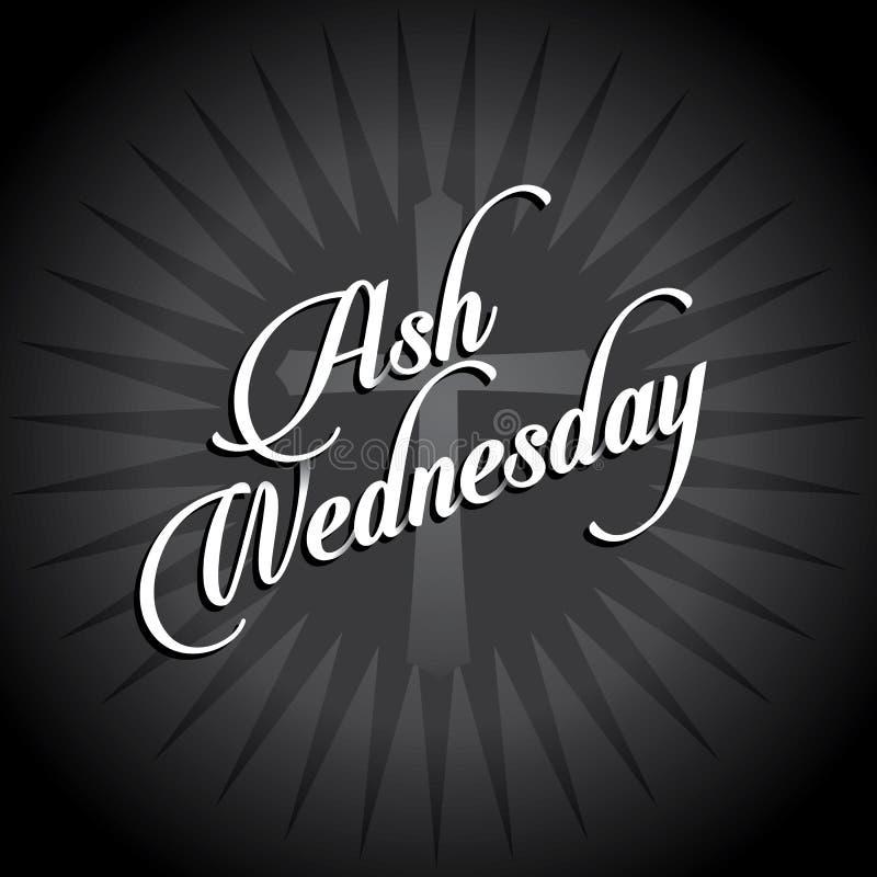 Scoppio del testo di Ash Wednesday Layered royalty illustrazione gratis
