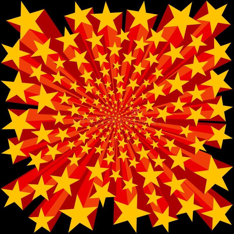 Scoppio della priorità bassa delle stelle illustrazione vettoriale