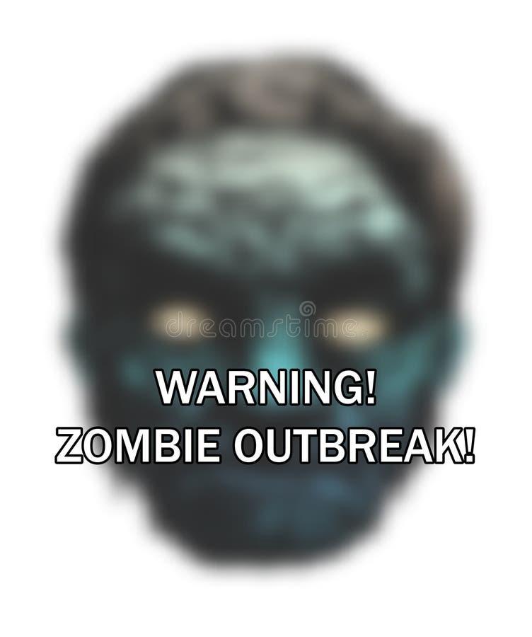 Scoppio dello zombie royalty illustrazione gratis