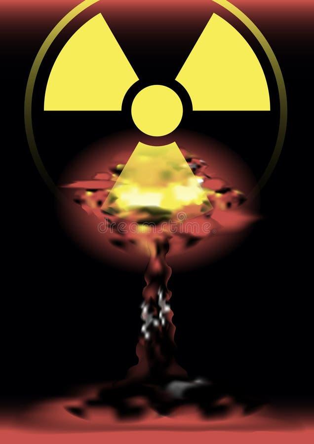 Scoppio di bomba atomica in deserto immagine stock