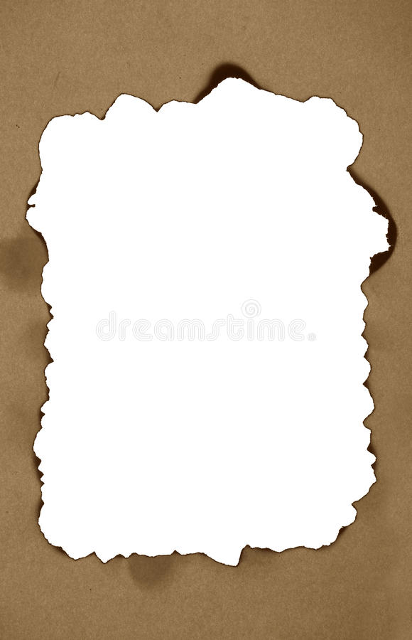 Download Scorched frame on paper stock image. Image of empty, torned - 22422497