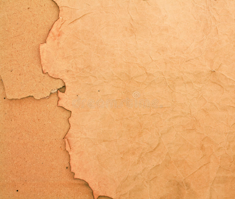 Scorched Paper And Cardboard Backround Royalty Free Stock Photos