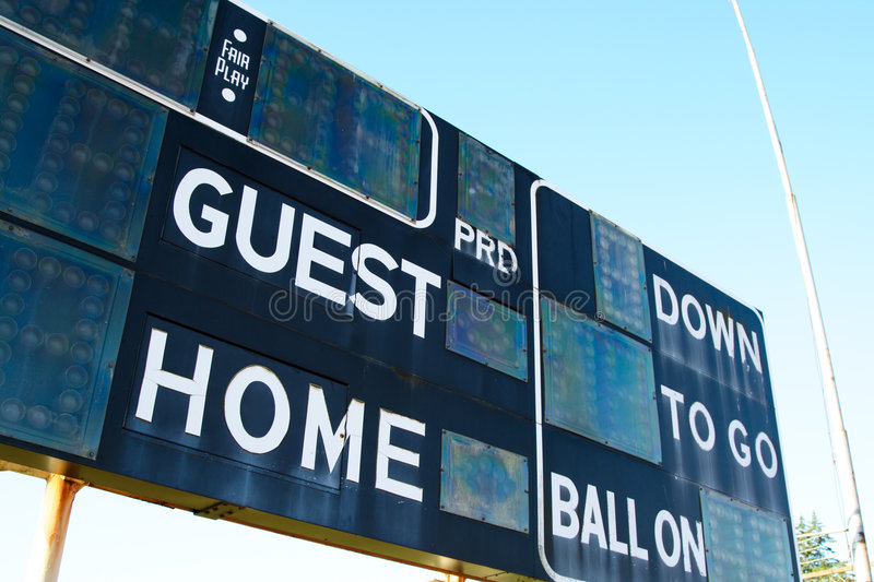 Score board royalty free stock photography