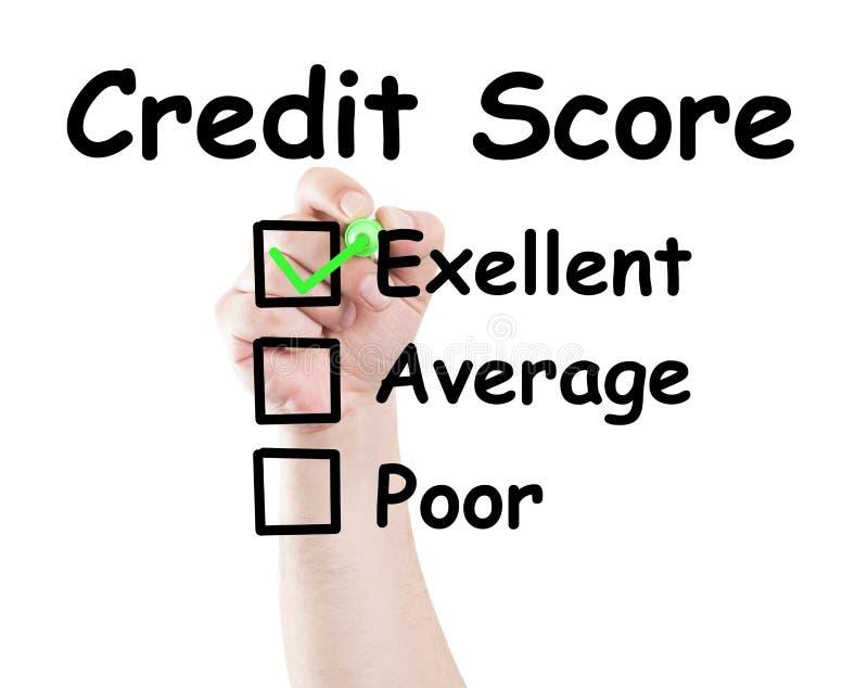 Score de crédit excellent images stock