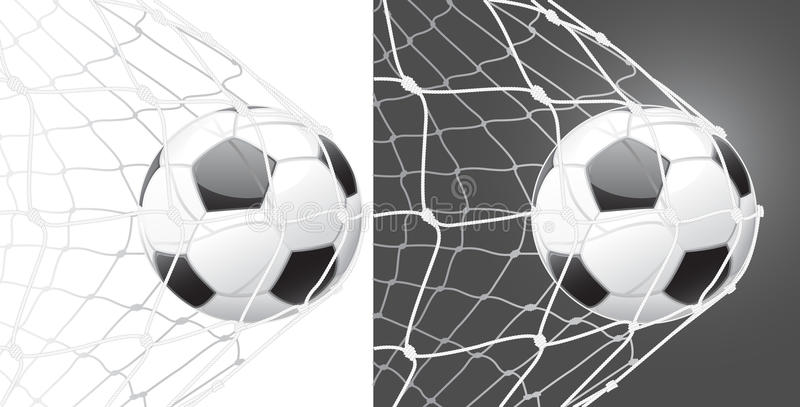 Score a goal, soccer ball vector illustration