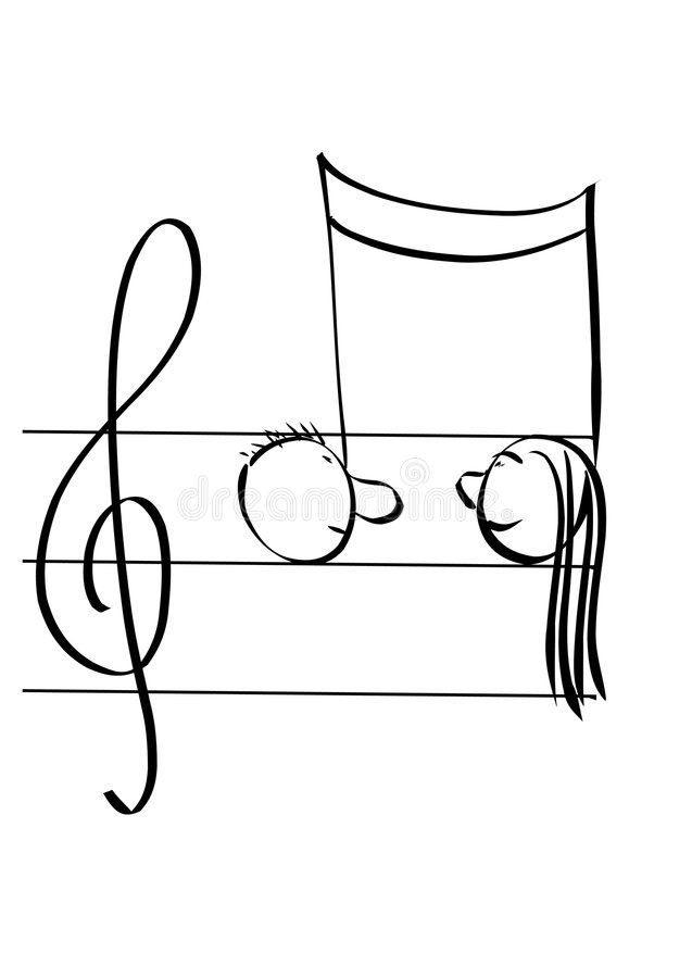 Download Score pair stock vector. Image of tune, sound, type, composer - 1485987