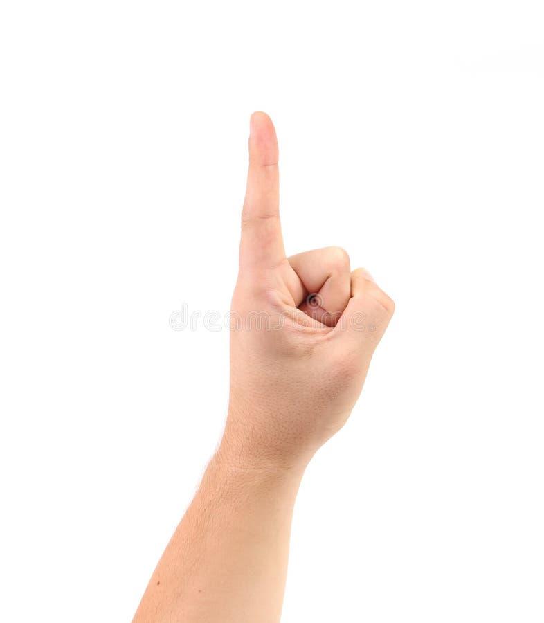 Score sur le doigt. photographie stock libre de droits