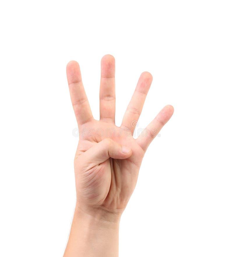 Score sur le doigt. photo libre de droits