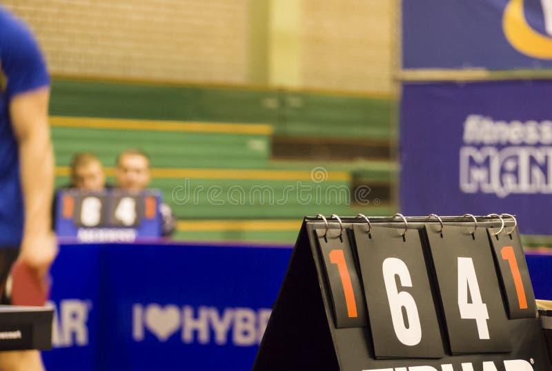 Score van de gelijke van de tennislijst royalty-vrije stock foto's