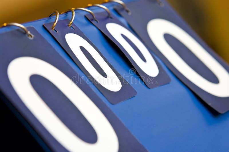 Scoreboard stock image