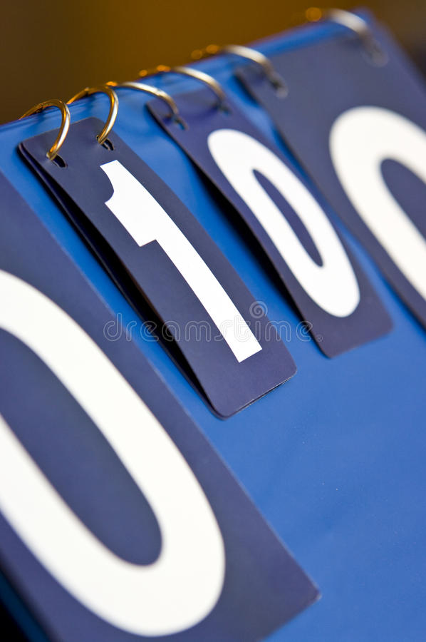 Scoreboard Royalty Free Stock Photo