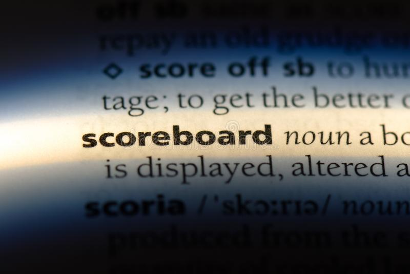 scoreboard photo stock