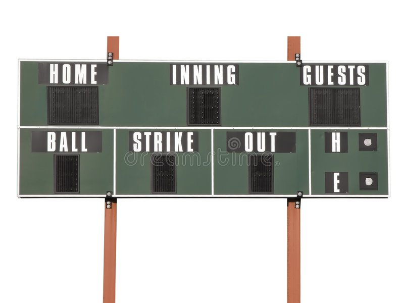 Download Scoreboard stock photo. Image of tally, scoreboard, softball - 2803948