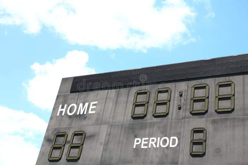 scoreboard photographie stock libre de droits