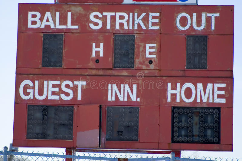 scoreboard image stock