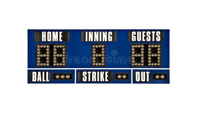 Scoreboard Baseball Isolated Royalty Free Stock Image