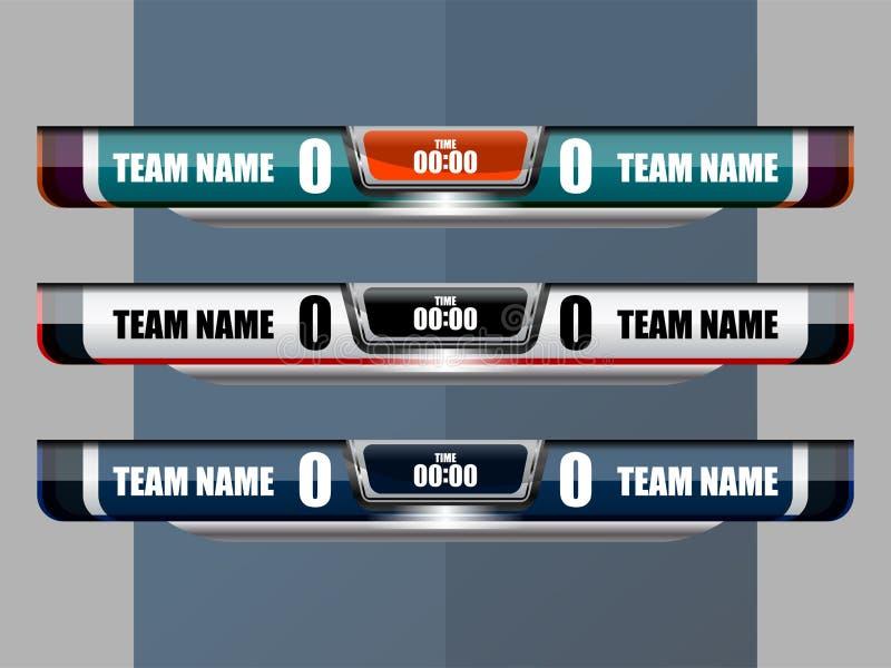 Scoreboard Broadcast Soccer royalty free illustration
