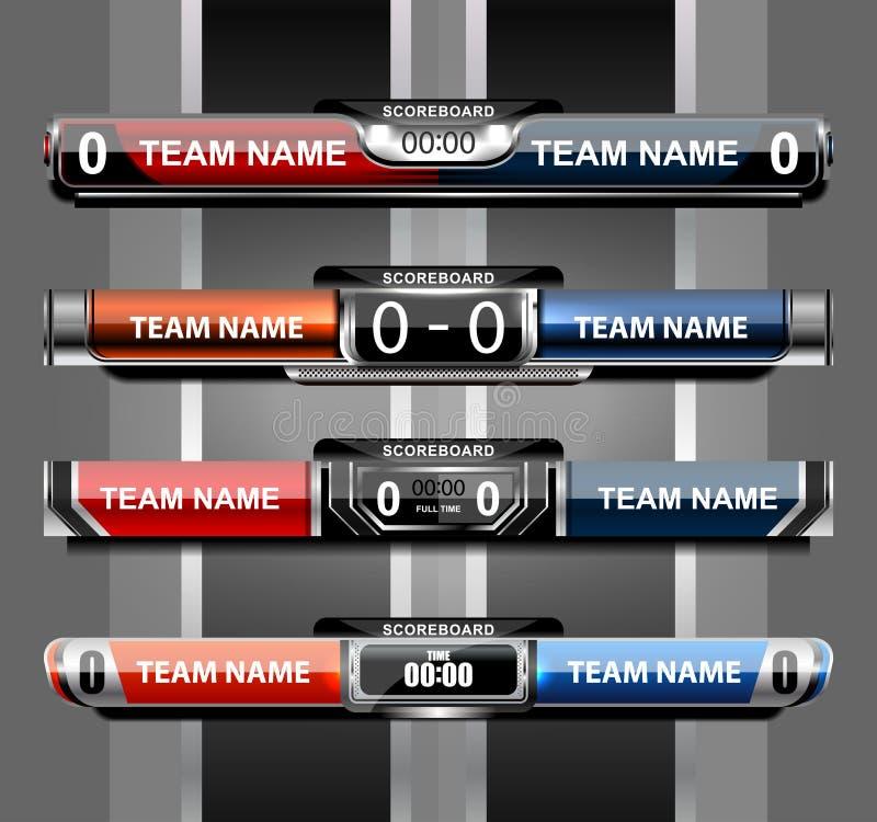 Scoreboard Sport Template Stock Vector - Image: 75495254