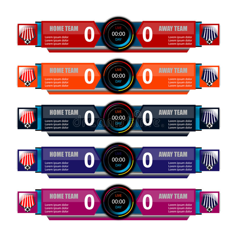 Scoreboard Template For Sport Stock Vector  Illustration Of
