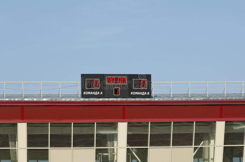 Scoreboard with zeros royalty free stock images