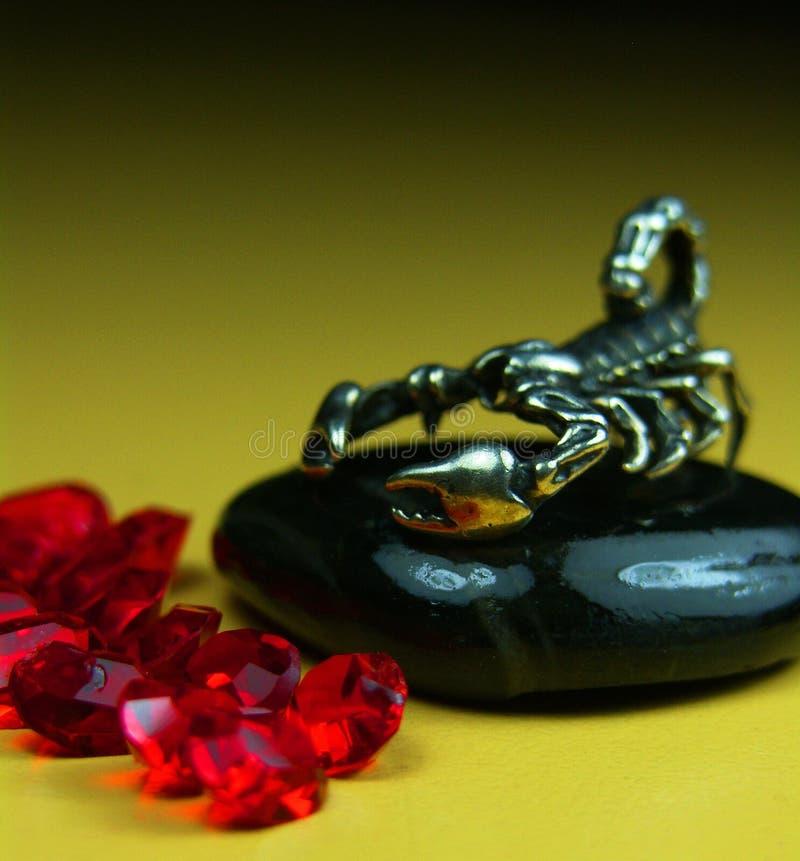 Scorp och rubin royaltyfri bild