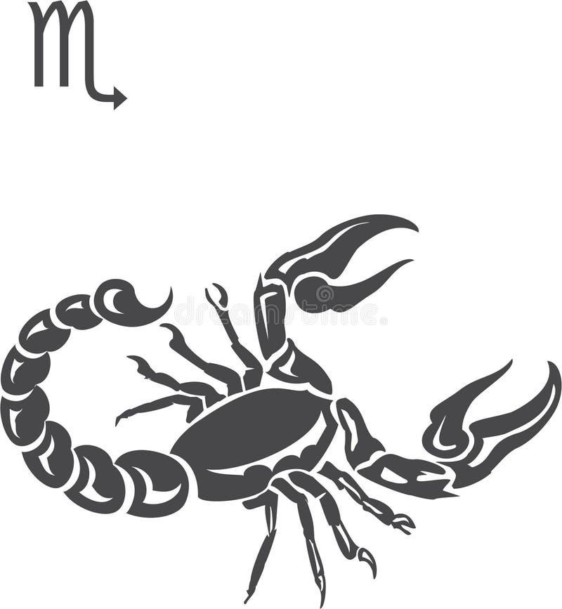 Scorpio. Signs of the zodiac - Scorpio royalty free illustration