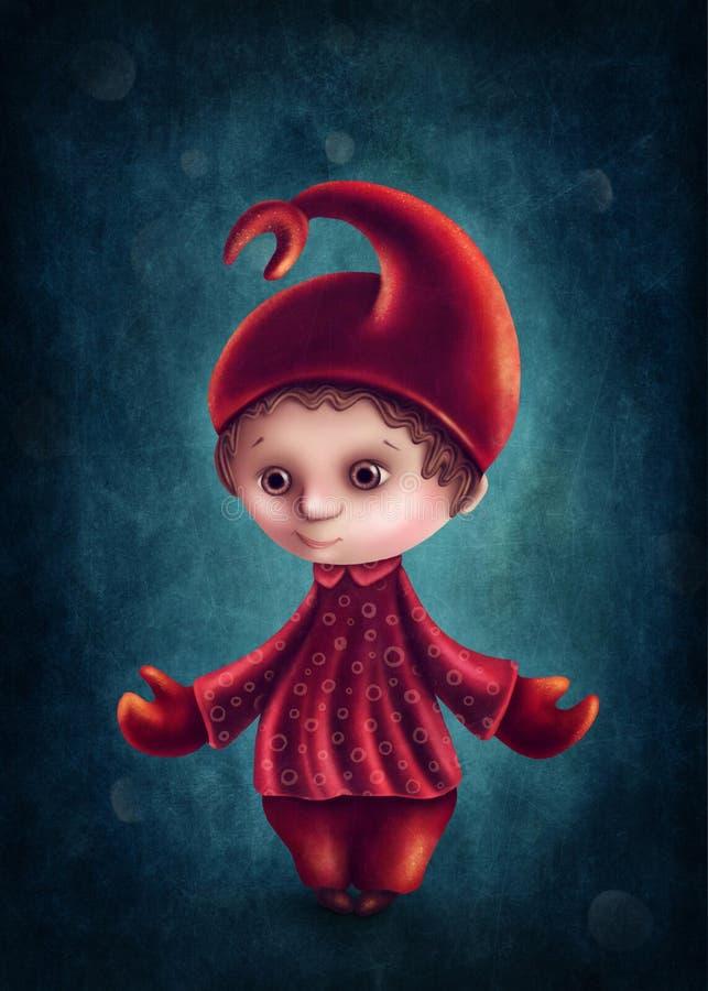 Scorpio astrologiczna szyldowa chłopiec royalty ilustracja