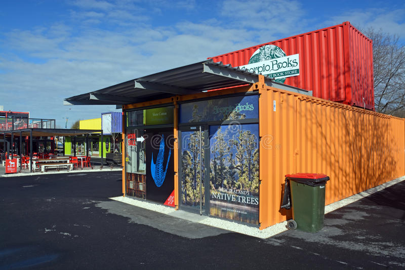 Scorpio Books Restart Container Shop Relocated royalty free stock image