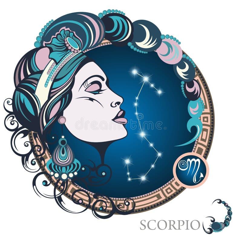 scorpio grafika projekta znaka symboli/lów dwanaście różnorodny zodiak ilustracja wektor