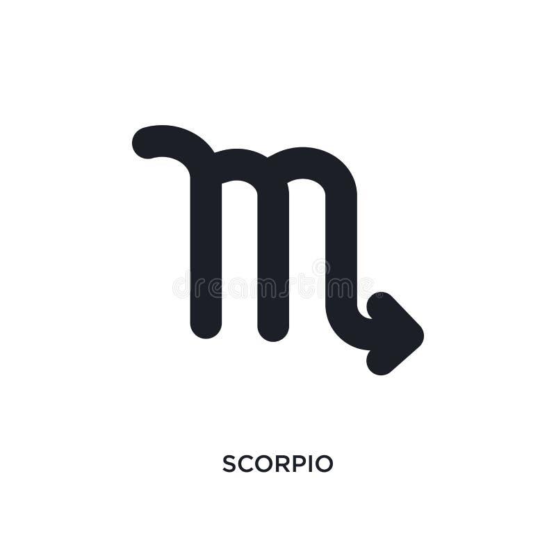scorpio isolerad symbol enkel beståndsdelillustration från zodiakbegreppssymboler för logotecken för scorpio redigerbar design fö royaltyfri illustrationer
