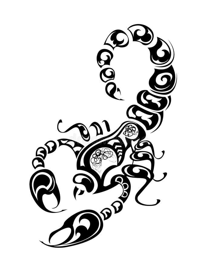Scorpio tattoo. Vector illustration vector illustration