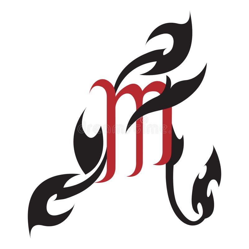 Zodiac Signs Scorpio Tattoo Design Stock Vector