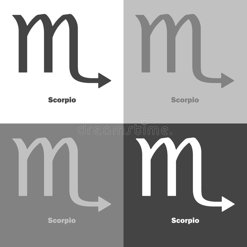 Scorpio Zodiac Set Sign Astrological Symbol Icon Vector Icon O