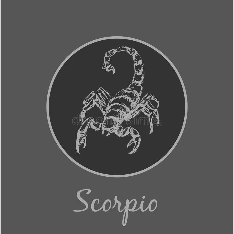 Scorpio zodiaka Astrologiczny symbol Horoskopu znak ilustracja wektor