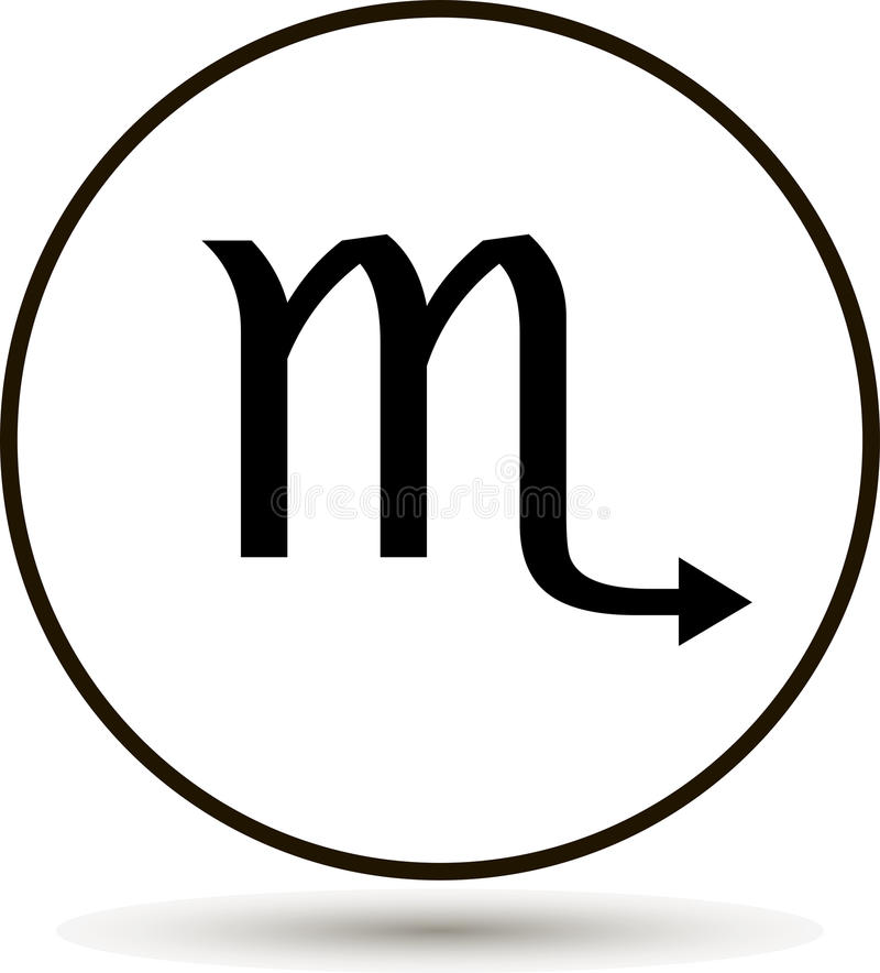 Scorpio zodiaka znak royalty ilustracja