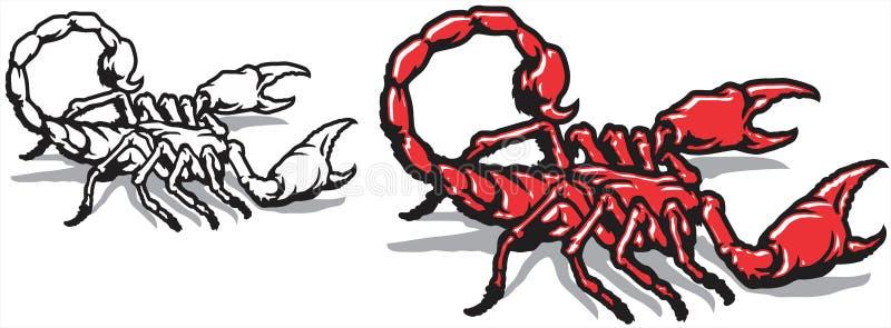 scorpion ilustração royalty free